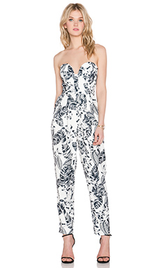 Minty Meets Munt Paloma Jumpsuit in Outline Tropic Print