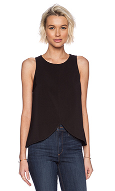 Minty Meets Munt Around the World Top in Black
