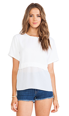Minty Meets Munt Rewind Top in White