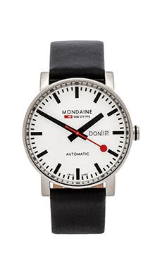 Mondaine Evo Automatic 40mm in Black & White