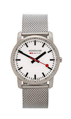 Mondaine Simply Elegant 36mm in Silver