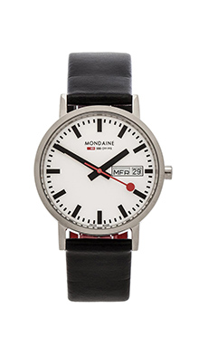 Mondaine Classic 36mm in Black & White