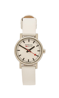 Mondaine Evo 26mm in White & White