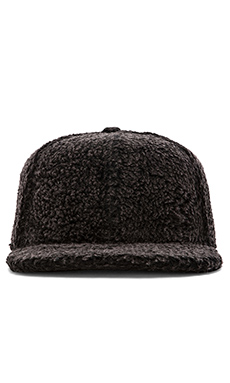 Mostly Heard Rarely Seen Sherpa Snapback in Black