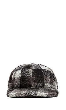 Mostly Heard Rarely Seen Sherpa Snapback in Black/White