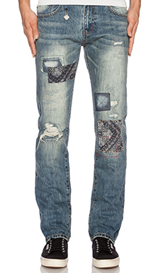 Mostly Heard Rarely Seen Paisley Clifton Jeans in Light Blue