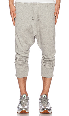 Mostly Heard Rarely Seen Grey Knit Harem Trousers in Melange Heather Grey