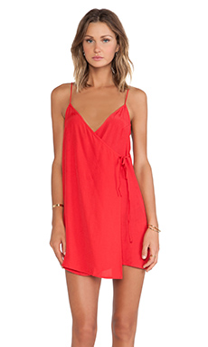 Motel Chiko Slip Dress in Imperial Red