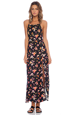 Motel Sai Maxi Dress in Floral Fever & Plum