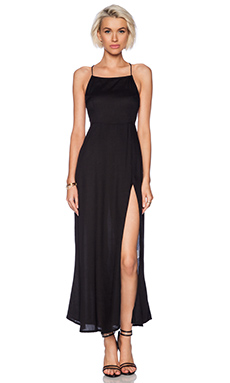 Motel Sai Maxi Dress in Black