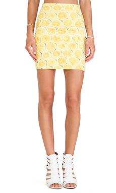 Motel Kimmy Skirt in Lemonade Yellow