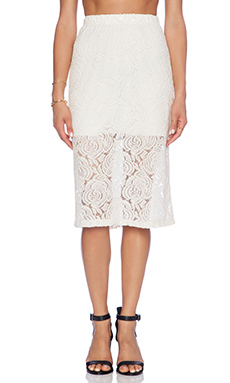 Motel Rose Katcha Skirt in Cream & Silver