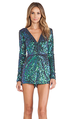 Motel Paulette Jumpsuit in Iridescent Green