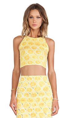 Motel Folly Crop in Lemonade Yellow