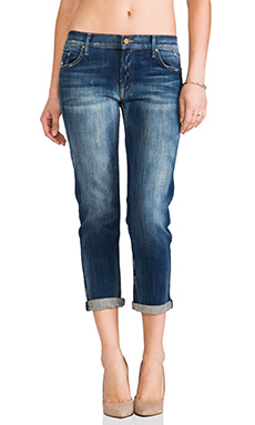 MOTHER The Dropout Boyfriend Jeans in Tequila Truth