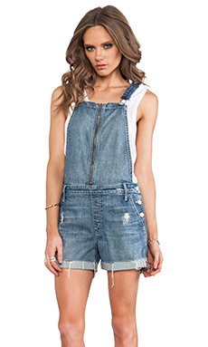 MOTHER Overall Dropout Short in Hooked Destroy
