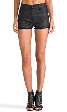 MOTHER High Waisted Cutoff Short in Dare I Be Happy?