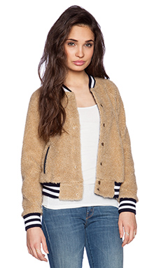 MOTHER Letterman Snap Jacket in More Than a Feeling
