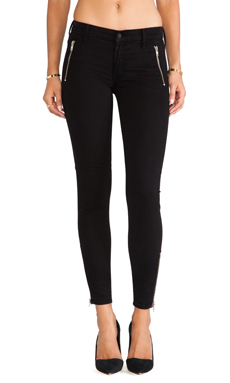 MOTHER Zip Muse Pant in Black