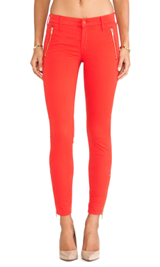 MOTHER Zip Muse Pant in Lipsmack Red