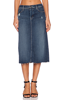 MOTHER Easy A Skirt in Alley Cat