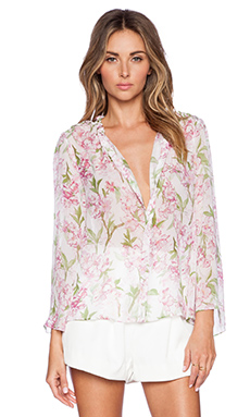 Marchesa Voyage Bell Sleeve Blouse in Blossom