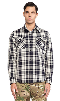 Mark McNairy New Amsterdam Overshirt Button Down in Blue/White Gingham