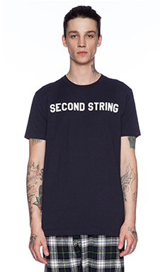 Mark McNairy New Amsterdam Second String Tee in Navy