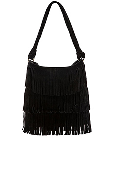 MR. Hudson Fringe Shoulder Bag in Onyx