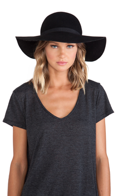 Maison Scotch Bohemian Hat in Black