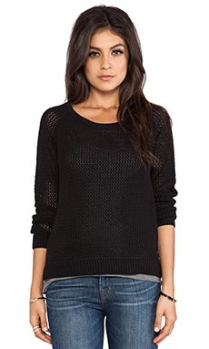 Maison Scotch 2-1 Sweater and Tank in Black