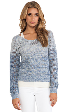 Maison Scotch 2-1 Sweater in Ombre Navy