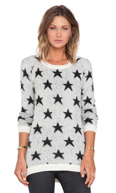 Maison Scotch Star Sweater in Cream & Black