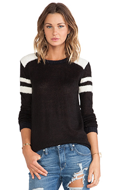 Maison Scotch Baseball Sweater in Black