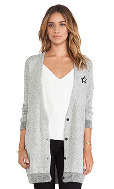 Maison Scotch Oversized Cardigan in Grey
