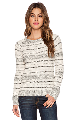 Maison Scotch Pullover Sweater in Ivory & Heather