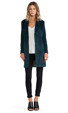 Maison Scotch Wool Coat in Teal