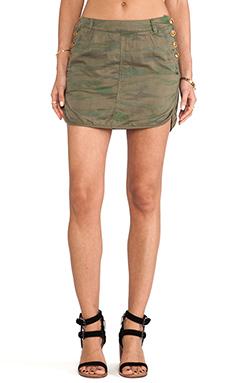 Maison Scotch Army Skirt in Camo