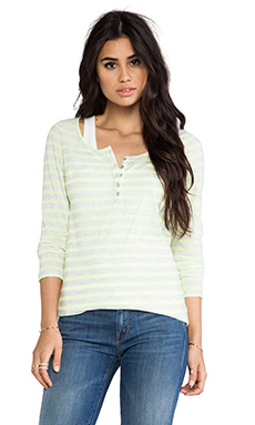 Maison Scotch Stripe Henley and Tank in White & Blue