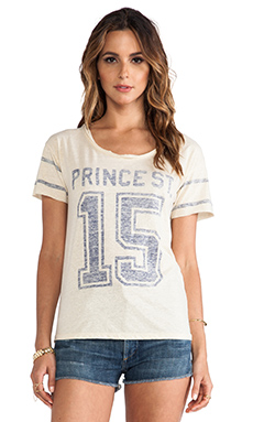 Maison Scotch Varsity Tee in Cream