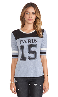 Maison Scotch Varsity Tee in Multi