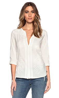 Maison Scotch Lace Insert Tunic in Ivory
