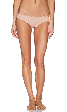 Marysia Swim Scallop Bikini Bottom in Tan