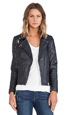 Muubaa Milou Quilted Biker in Coal