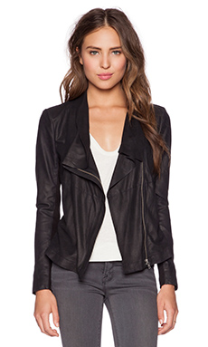 Muubaa Louis Drape Jacket in Black
