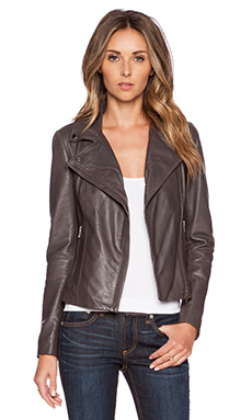 Muubaa Rosario Biker Jacket in Slate Grey
