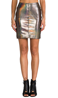 Muubaa x REVOLVE Kowie Leather Skirt in Hologram