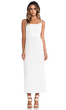 Myne Sail Open Back Maxi Dress in White