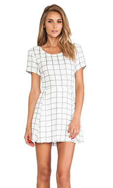 Myne Blaze Mini Dress in Cruz Plaid