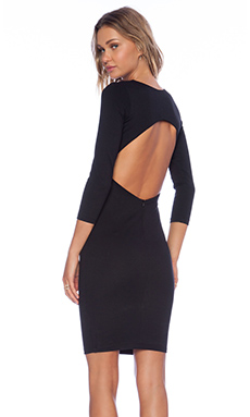 Myne Chance Long Sleeve Dress in Black
